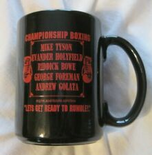 CHAMPIONSHIP BOXING LETS GET READY TO RUMBLE Ceramic Mug ESPN VINTAGE 90s RARE