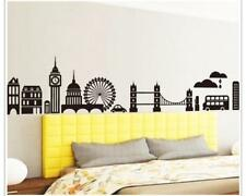 Wandtattoo Wandsticker Wandaufkleber London Skyline Black White 220 x 36 W102