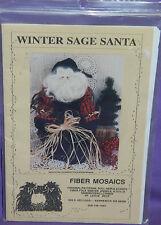 "Uncut Fiber Mosaics ""Winter Sage Santa"" 22"" Doll Pattern Christmas Decor OOP"