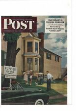 VINTAGE 1950 POST MAG COVER ONLY PUPPIES FOR SALE BOY MOM DAD AD PRINT #C009