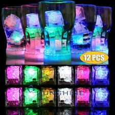 12PCS LED Ice Cubes Glowing Party Ball Flash Light Luminous Wedding Festival
