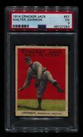 1914 CRACKER JACK WALTER JOHNSON #57 SENATORS HOF PSA 3 NRMT MUCH BETTER! READ
