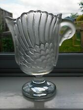 WALTHER CRYSTAL & FROSTED GLASS SWAN PEDESTAL VASE GERMANY