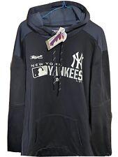 New York  Yankees Authentic Majestic Hoodie Sweatshirt Navy Blue XL Nwt MLB
