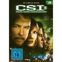 "CSI CRIME SCENE INVESTIGATION ""SEASON 6"" 6 DVD BOX NEU"