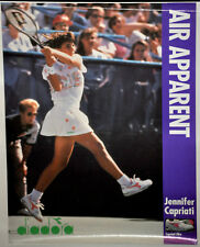 "JENNIFER CAPRIATI ""Air Apparent"" Diadora Tennis Poster Vintage (100)"