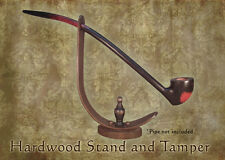 MacQueen Wizard Lord of the Churchwarden Hard Wood Pipe Stand and Tamper Rings