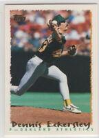 1995 Topps Baseball Oakland Athletics Team Set