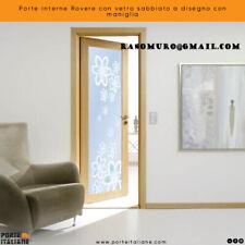 Doors Internal Oak With Glass Sandblast A Design With Handle