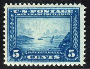 1913 US SC 399 Golden Gate 5c Blue Perf 12 - Panama Pacific Expo - MNH VF/XF