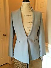 Zara WOMAN Blazer with No Lapels 0605/032 sz M DUSTY LIGHT BLUE