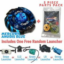 Mercury Anubis B-166 Beyblade w/ Free Launcher & Tips / Parts / Card Gift Pack