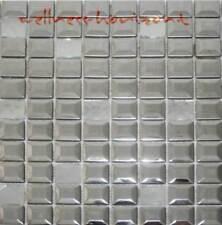 1Blatt o 36Stück Edelstahl Mosaik 47//47mm seidenmatt Bordüre Einleger 32633
