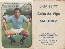 JESUS MARTINEZ SOUTO # ESPANA RC.CELTA VIGO CARD TARJETA ESTE LIGA 1977