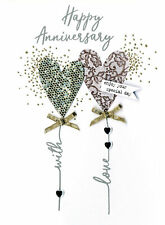 Happy Anniversary With Love Irresistible Greeting Card Embellished Cards