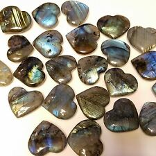 "1"" Labradorite Feldspar Polished Love Heart Madagascar (1 heart)"