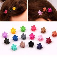 10x Mixed Mädchen Mini Kleine Kunststoff Blume Haarspangen Klauen Haarnadel J4M4