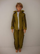 2pc Ken Doll Outfit Jogging Suit with Zipper Made to Fit the Ken Doll