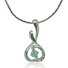 14k white Gold plated with Swarovski crystals melody fine pendant necklace