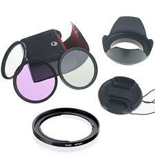 67mm UV CPL FLD Filter Set + Lens Hood+Cap for Canon PowerShot SX50 SX40 HS