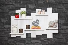 Regal Vintage weiß Wandregal Palettenmöbel massiv  Konsole  Küchen  Shabby U9