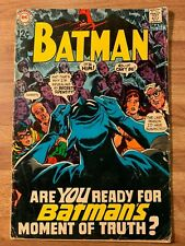 Batman #211 (DC 1969) Batman's Big Blow Off~Robin~Frank Robbins Story~Silver Age