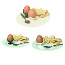 More details for trade ball chair egg cups stylish retro black or white hard boiled 50, 100, 200