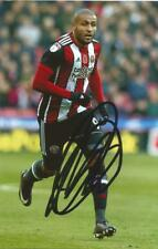 SHEFFIELD UNITED: LEON CLARKE SIGNED 6x4 ACTION PHOTO+COA