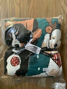 Vera Bradley Plush Throw Blanket Holiday Dogs Best In Show Green Large Fleece NW