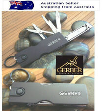Gerber LED Multi Tool Functional nail clippers file scissors keyring Knife 10IN1