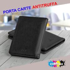Porta carte di credito protezione rfid Card Portatessere Slim Portafogli
