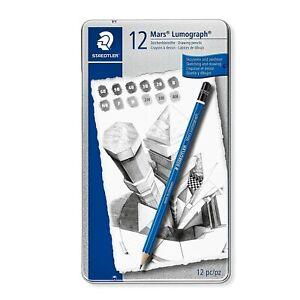 Staedtler Mars Lumograph 100G6 Soft Grades 8B-HB Pencil Pack of 1
