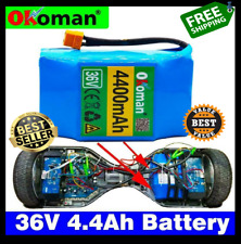 Original 4.4ah 4400mah 36v Lithium Battery Pack For Balance Scooter Board