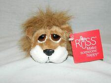 """Russ Lil Peepers LION CARNIE 5"""" plush Brown big eyes stuffed New w Tag Li'l HTF"""