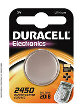 PILA BATTERIA BOTTONE DURACELL ELETTRONICS 3V LITIO 2450 (DL2450/CR2450/ECR2450)