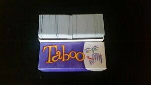 Taboo Updated Card Deck Only -VGC- 2000 Board Game Parts Pieces Replacement