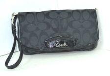 COACH BLACK  FABRIC BAGUETTE CLUTCH BAG SMALL PURSE
