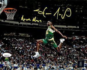 Shawn Kemp autographed inscribed 8x10 photo NBA Seattle Supersonics JSA COA