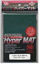 KMC 80 MATTE MAGIC MTG CARD BARRIER SLEEVES DECK PROTECTORS - HYPER MAT GREEN