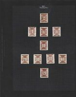 hungary 1951 postage due stamps page ref 17657