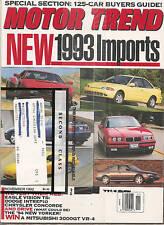 Motor Trend - Nov 92 - Eagle Vision - Dodge Intrepid - Eagle Vision - 3000GT VR4