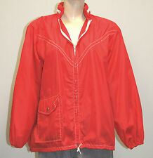Vintage 1960's 1970's Men's Red 100% Nylon Jacket The Boater - Size Large