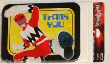 POWER RANGERS~8-PAPER  THANK YOU NOTES, BIRTHDAY-CHILD, HALLMARK  PARTY SUPPLIES