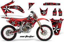 Honda CRF 450R Graphic Kit AMR Racing # Plates Decal Sticker Part 05-08 NSRB