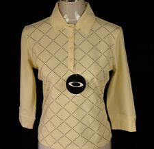 BNWT WOMEN'S AUTHENTIC OAKLEY STRETCH L/S POLO SHIRT XSMALL NEW YELLOW