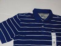 Mens Polo Shirt Tall XL / Big & Tall XXL 2X / Big XXXXL 4X Blue Striped