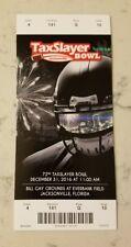 Taxslayer.com Bowl Football Ticket 12/31 2016 Georgia Tech Kentucky Stub Gator