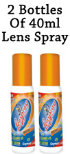 2 x Lens Cleaner Spray 40ml Spectacles Eye Glass Cleaning Degreasing Spray