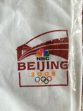 2008 Bejing Olympic NBC Cotton Tee Shirt China Short Sleeve Sz Large TShirt