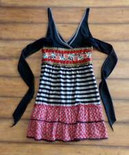 Anthropologie FREE PEOPLE ~ Size 0 ~ Mixed Media Embroidered Flock Flower Dress